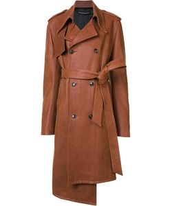 Y / Project   Leather Coat Womens Size Small Acetate/Lamb Skin