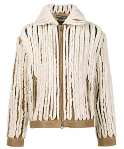Y / Project   Paneled Shearling Jacket Adult Unisex Size Small