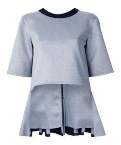 Robert Wun | Peplum Front Blouse Womens Size 12 Polyester