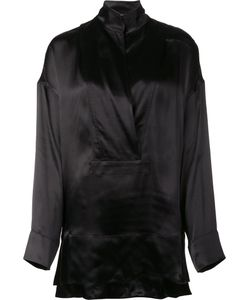 Urban Zen   High Neck Blouse Womens Size Small Viscose/Silk