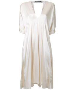 Kitx   V-Neck Dress Womens Size 12 Silk Satin