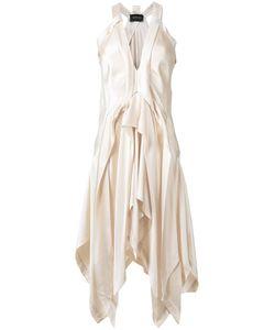 Kitx   Fluid Draped Dress Womens Size 10 Silk Satin