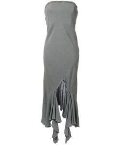 Kitx   Ruffled Hem Dress Womens Size 10 Linen/Flax