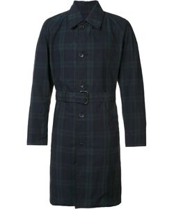 Engineered Garments | Checked Trench Coat Mens Size Medium Cotton