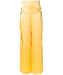 Kitx   Wide-Leg Trousers Womens Size 12 Silk Satin