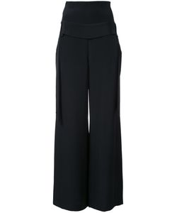 Kitx   Wide-Leg Trousers Womens Size 12 Silk Crepe