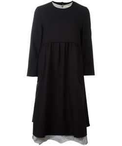 Aleksandr Manamïs   Split Open Back Dress Womens Size I Wool/Cotton/Ramie