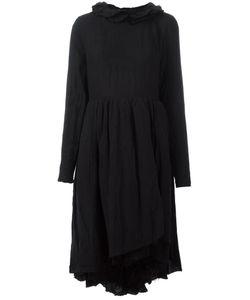 Aleksandr Manamïs   Ruffle Collar Dress Womens Size Ii Linen/Flax/Polyester