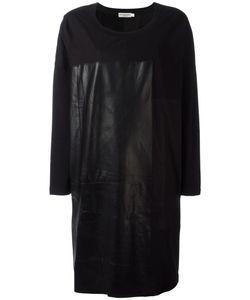 Ivan Grundahl   Diz Dress Womens Size S/M Cotton/Spandex/Elastane/Leather