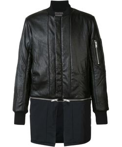 Siki Im | Detachable Bomber Jacket Mens Size Medium Nylon/Leather