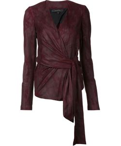 Urban Zen   Wrap Jacket Womens Size Small Goat Suede
