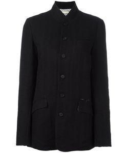 Aleksandr Manamïs   Elbow Patch Jacket Womens Size I Acetate/Cotton/Wool/Ramie