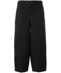 Aleksandr Manamïs   Wide Ankle Cut Trousers Womens Size Ii Wool/Cotton/Ramie