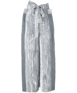 Eckhaus Latta | Tied Belt Cropped Trousers Womens Size Small Rayon