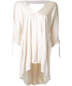 Kitx   V-Neck Blouse Womens Size 12 Silk Satin
