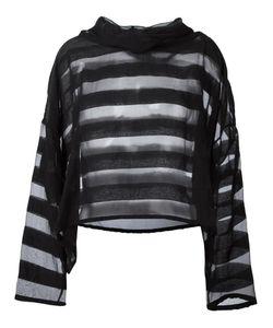 Ivan Grundahl   Oversized Sheer Striped Blouse Womens Size 38 Nylon/Viscose