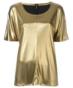Alexandre Vauthier | Grey Effect T-Shirt Womens Size 3 Polyamide/Acetate