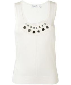 Christian Dior Vintage | Embellished Knitted Top Womens Size 38
