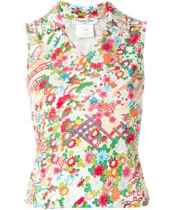 Christian Dior Vintage | Floral Print Top Womens Size 40