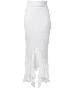 Kitx   Spiral Hem Skirt Womens Size 12 Linen/Flax