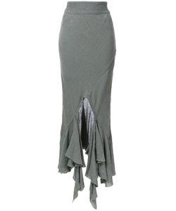 Kitx   Spiral Hem Skirt Womens Size 6 Linen/Flax