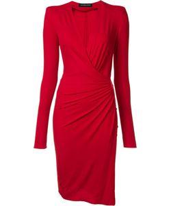 Alexandre Vauthier | Wrap Effect Dress Womens Size 36 Spandex/Elastane/Viscose