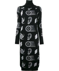 Ashley Williams   Intarsia Roll Neck Dress Womens Size Medium Merino/Virgin