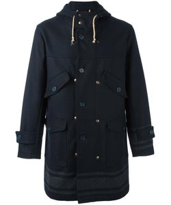Equipe '70 | Hooded Coat Mens Size 46 Wool/Polyester/Polyamide/Polyamide