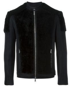 Antpitagora | Two-Tone Bomber Jacket Mens Size Small Polyamide/Polyester/Spandex/Elastane/Sheep Skin/Shearling