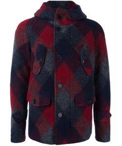 Equipe '70 | Plaid Coat Mens Size 48 Virgin Wool/Polyester/Cotton/Polyamide