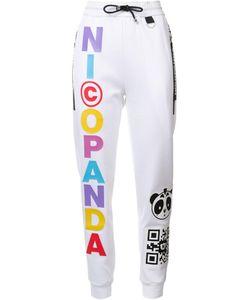 Nicopanda   Panda Nation Track Pants Womens Size Small Cotton/Polyester