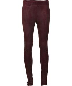 Urban Zen   Leather Skinny Trousers Womens Size 2 Goat Suede