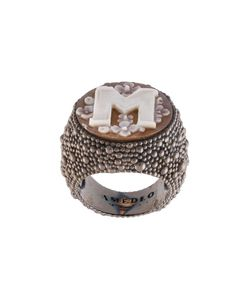 Amedeo | Embossed M Ring Womens Size 7 3/4