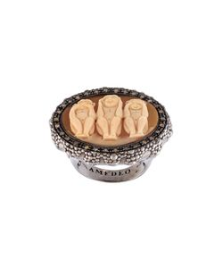 Amedeo | Embossed Monkeys Ring Womens Size 6 3/4