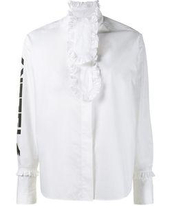 Ashley Williams   Ruffle Detail Shirt Womens Size 10 Cotton