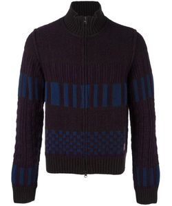 Al Duca D'Aosta | 1902 Colour Block Knitted Zip Cardigan Mens Size