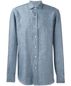 Salvatore Piccolo | Sport Shirt Mens Size 40 Cotton/Linen/Flax