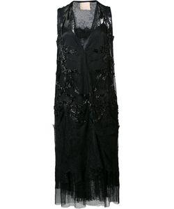 Loyd/Ford | Embellished Sheer Dress Womens Size 4 Silk