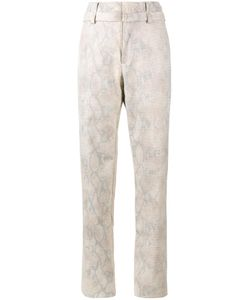 Y / Project   Snakeskin Print Trousers Womens Size 46 Cotton/Acetate/Polyurethane/Polyester