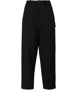 Y's   Out Pocket Trousers Womens Size 1 Cupro/Wool/Nylon