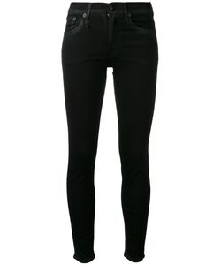 R13 | High-Rise Skinny Jeans Womens Size 27 Cotton/Polyester/Spandex/Elastane/Calf Leather