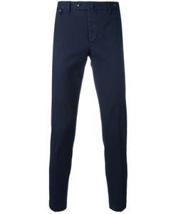 Pt01 | Off Centre Button Chinos Mens Size 52 Cotton/Spandex/Elastane