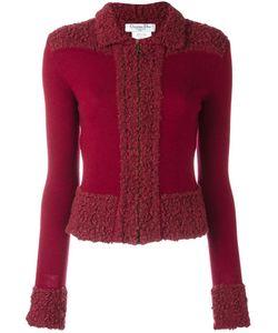 Christian Dior Vintage | Bouclé Trim Knitted Jacket Womens Size 38