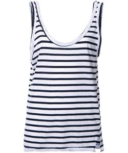 Bassike | Striped Relaxed Tank Top Womens Size 14 Organic Cotton