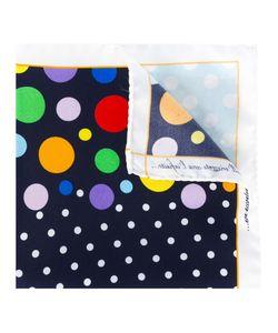 Fefè   Multiple Dots Pocket Square Adult Unisex Silk