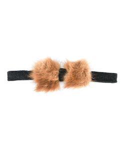 Fefè   Button Fastening Bow Tie Adult Unisex Wool/Rabbit Fur
