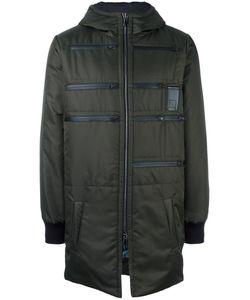 Letasca   Zip Detail Hooded Coat Mens Size Medium Polyester