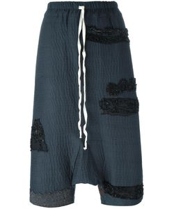 By Walid | Drop Crotch Cropped Pants Womens Size Large Cotton
