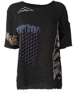 By Walid | Embellished T-Shirt Womens Size Medium Cotton