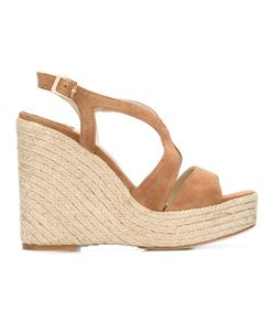 Paloma Barceló | Wedge Sandals Womens Size 35 Leather/Raffia/Suede/Leather